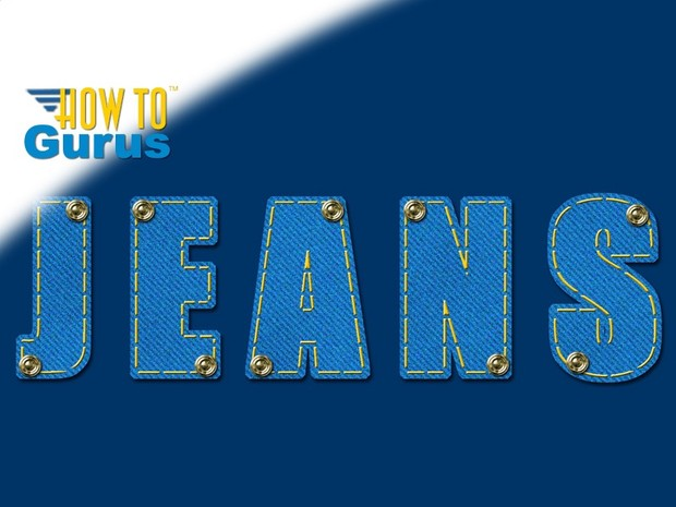 How to Make a Denim Jeans Fabric Text Effect in Photoshop Elements 11 12 13 14 15 Tutorial