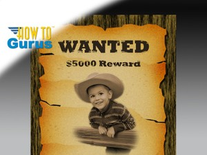 How to Make an Old West Wanted Poster Photo Manipulation in Photoshop Elements 14 13 12 11 Tutorial