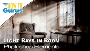 Photoshop Elements Lighting Effects : Light Rays 2018 15 14 13 12 Tutorial for Beginners Guide