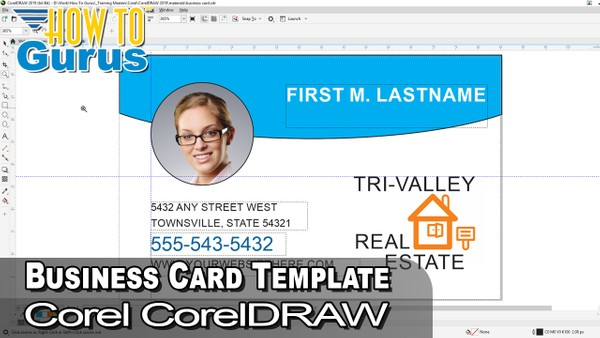 How to Make a CorelDRAW Business Card Design - CorelDRAW Business Card Template