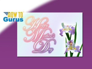 How To Make an Elegant Mother's Day Card in Photoshop Elements 15 14 13 12 11 Tutorial