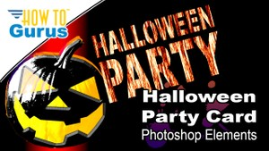 Photoshop Elements Text Effects : Halloween Party Card 15 14 13 12 11 Tutorial