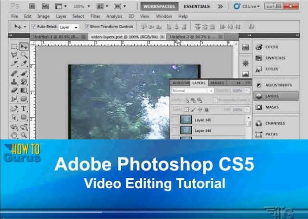 Adobe Photoshop CS5 Video Editing Tutorial - How to Import and Work with Video