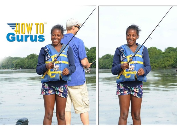 How to use Photoshop Elements to Remove People and Objects from a photo PSE 11 12 13 Tutorial
