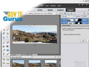 How to make a Adobe Photoshop Elements 13 Photomerge Panorama