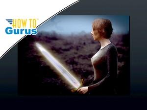 Photoshop Glow Effect Photo Manipulation Glowing Elfin Sword : CC 2017 CS6 CS5 Tutorial