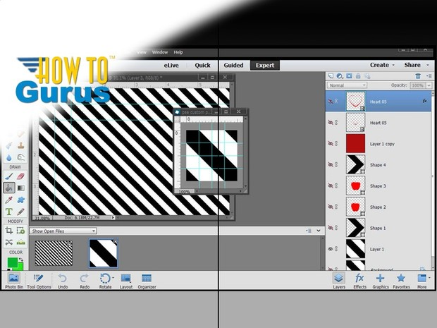 How to Create Seamless Background Patterns in Photoshop Elements 11 12 13 14 Tutorial