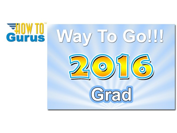 How To Make a Text Style Graduation Card in Photoshop Elements 11 12 13 14 Tutorial