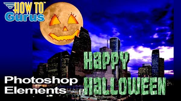 Happy Halloween! Photoshop Elements Halloween Card for 2019