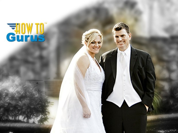 How to Fade Color to Black & White for Wedding Photography in Photoshop Elements 14 13 12 11