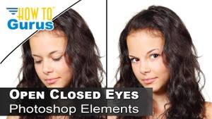 Photoshop Elements Open Closed Eyes Photo Retouch in any version 2018 15 14 13 12 11