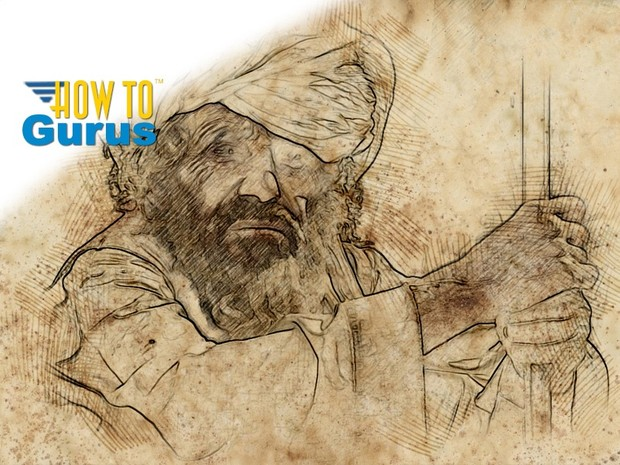How to do an Old Fashioned Sketch Photo Manipulation in Photoshop Elements 14 13 12 11 Tutorial