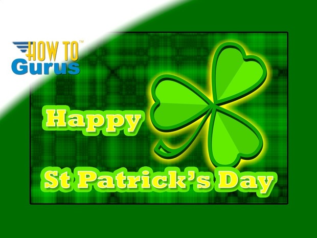 How To Make a Graphic Design St Patrick's Day Card in Photoshop Elements 15 14 13 12 11 Tutorial