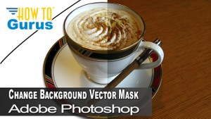 Change Background to White or Transparent Using Vector Mask in Adobe Photoshop CC 2018 CS6 Tutorial