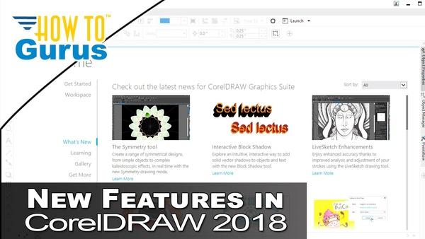 New Features in CorelDRAW 2018 - Symmetry Tool, Block Shadows, Warp Bitmaps, Pointilizer, Impact