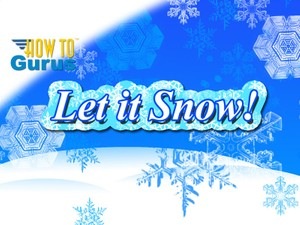 How to make a Snowflakes Christmas Card completely in Photoshop Elements 11 12 13 14 PSE Tutorial