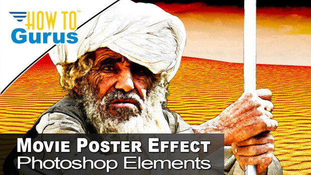 Movie Poster Art Effect Using Layers Filters Masks in Photoshop Elements  2018 15 14 13 12 11 Tutoria