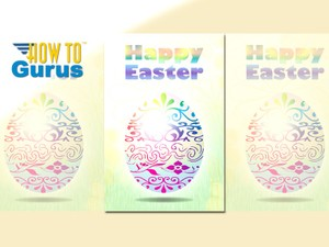 How To Make a Colorful Easter Egg Card in Photoshop Elements 15 14 13 12 11 Tutorial