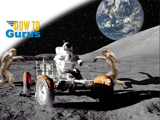 Moon Monkeys Attack Astronaut a Photoshop Elements 11 12 13 14 Tutorial