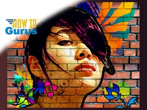 How to Make a Graffiti Street Art Portrait on Wall in Photoshop Elements 15 14 13 12 11 Tutorial