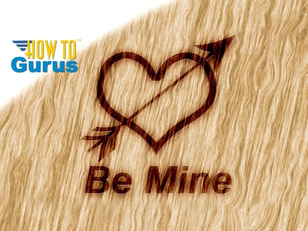 How To Make a Wood Burn Valentines Card in Photoshop Elements 15 14 13 12 11 Tutorial