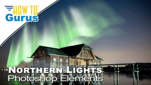 How to Make Aurora Borealis Northern Lights Adobe Photoshop Elements 2018 15 14 13 12 11 Tutorial