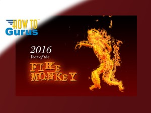 How to make a 2016 Year of the Fire Monkey card in Photoshop Elements 11 12 13 14 PSE Tutorial