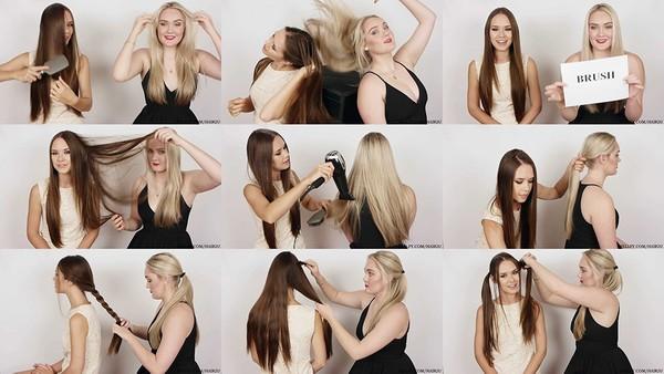 Julia & Shona Hair Play