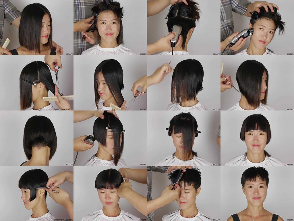 Matilda Long Bob to Pixie Haircut