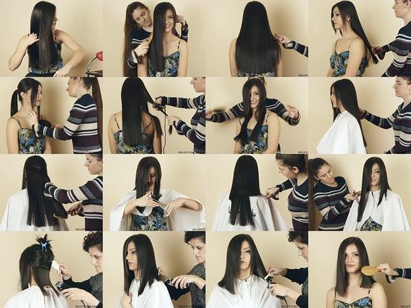 Dragana Long Bob Haircut