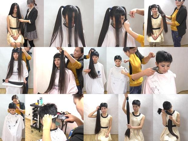 Miss Yi Very Long to Pixie Haircut