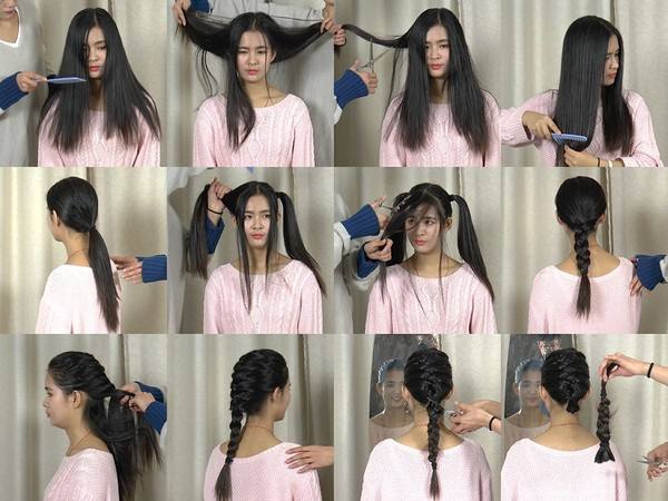 Miss Chen Hair Play and Braid Cut