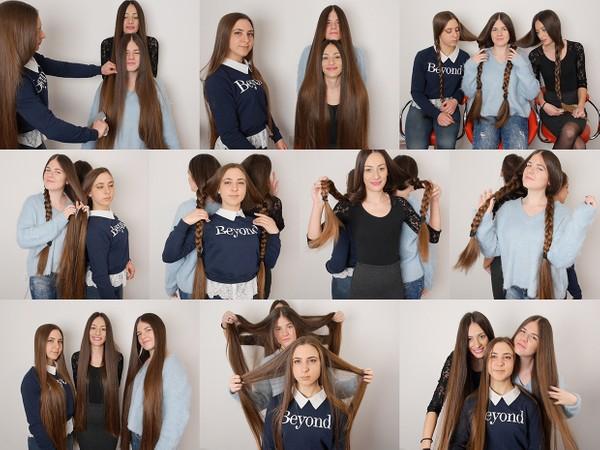 Suzana, Helena, and Nina Hair Combined