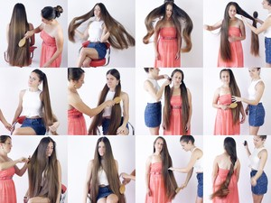 Suzana and Ajsa Hair Play