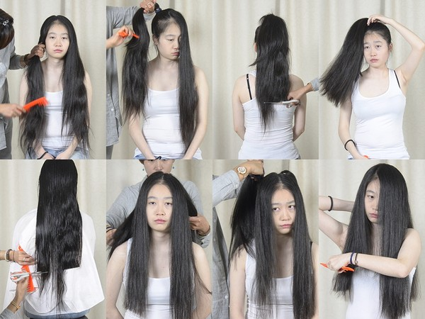 Miss Yun Hair Play and Trim (Part 1)