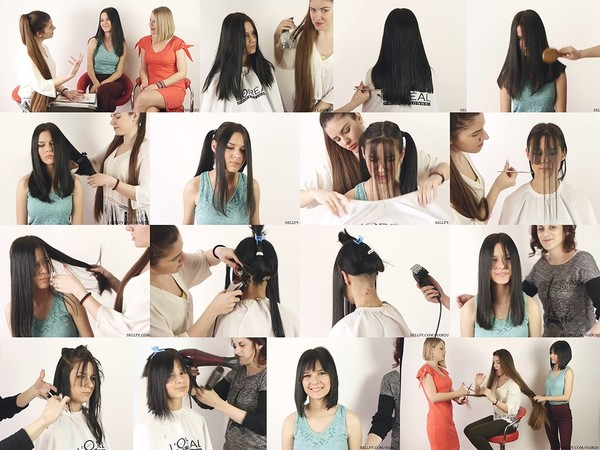 Zeljana Long to Bob Haircut
