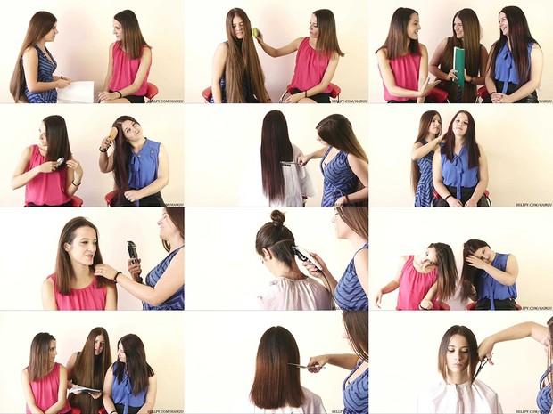 Dzenita and Natasa Haircut