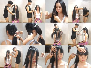Miss Xue Long to Bob Haircut in Stages Part 1