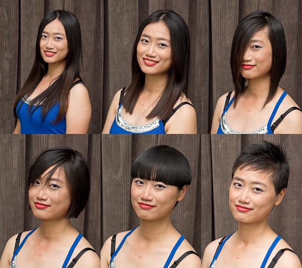 Momo's Haircut in Stages