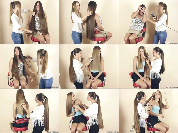 Suzana and Maja Hair Play