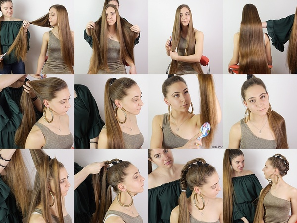 Nina Hoops and Ponytail Styles