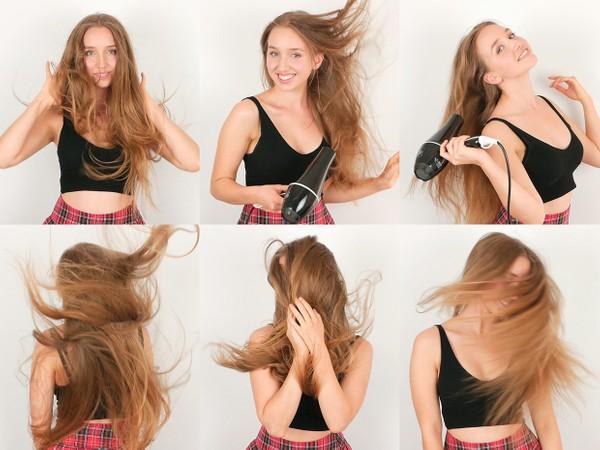 Elyssa Hair in Wind