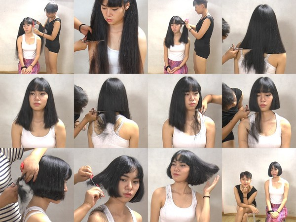 Miss Xue Long to Bob Haircut in Stages Part 2