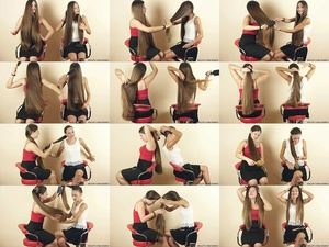 Suzana and Helena Ponytails Hair Play
