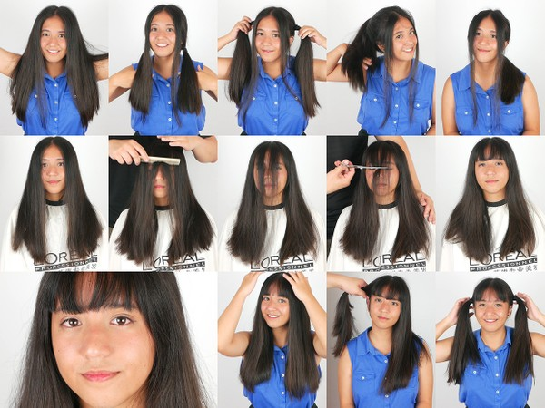 Kylie Hair Play and Bangs Cut 3