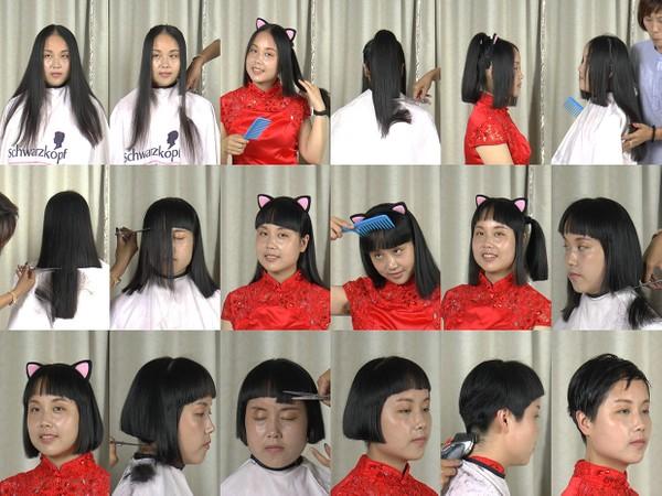 Miss Fan Pixie Haircut