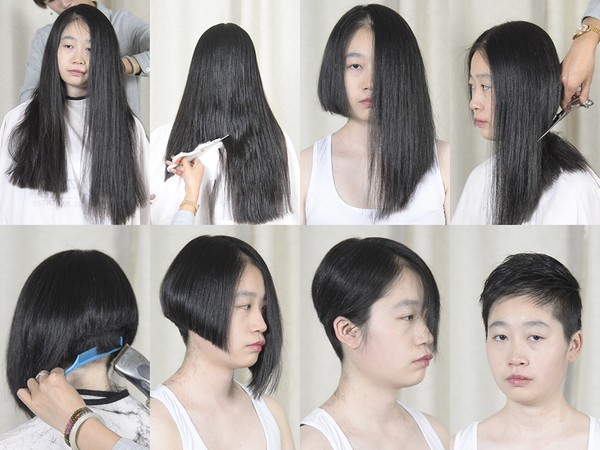 Miss Yun Long to Pixie Haircut in Stages (Part 2)