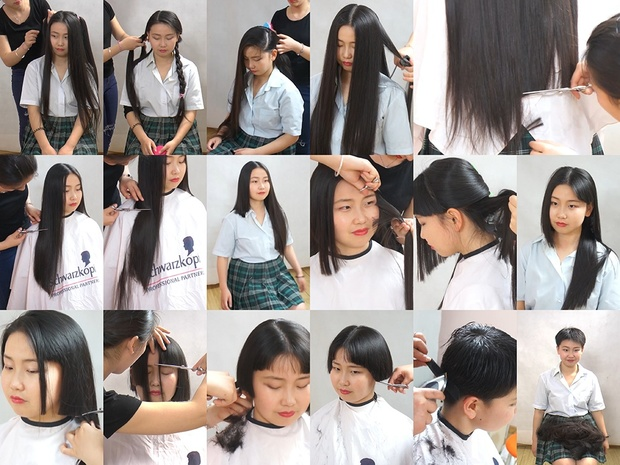 Miss Hu Long to Pixie Haircut in Steps