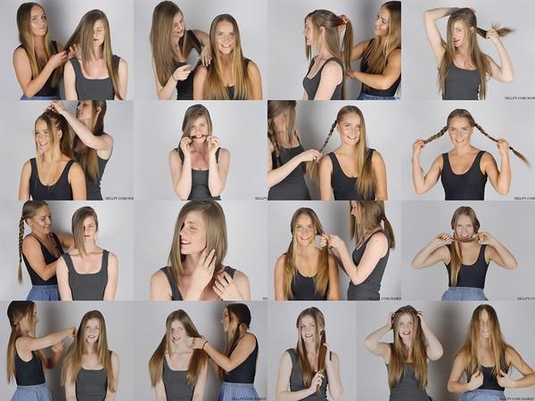 Grace & Laura Hair Play