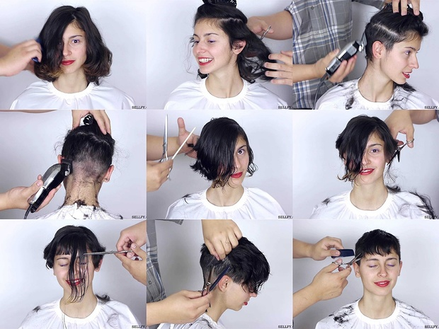 Giulia's Pixie Cut